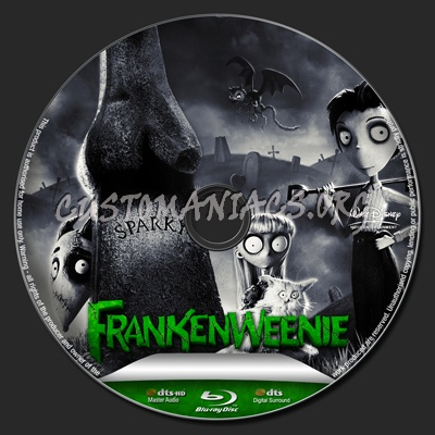 Frankenweenie blu-ray label