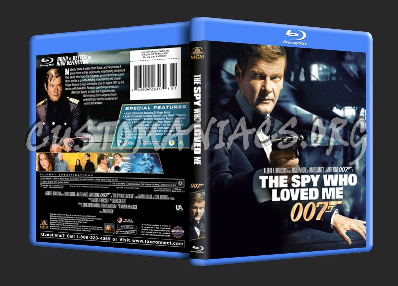 The Spy Who Loved Me (James Bond 50th Anniversary Package) blu-ray cover