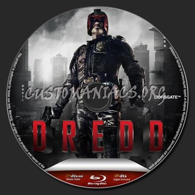 Dredd blu-ray label