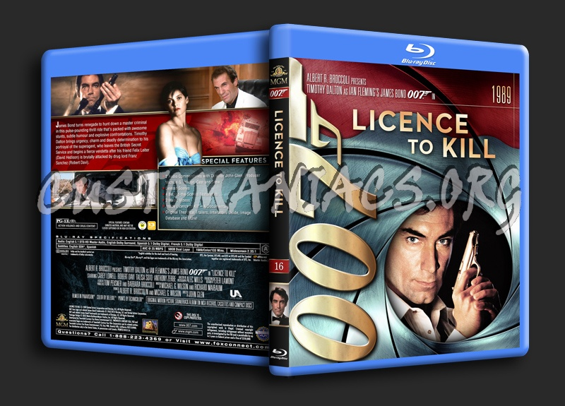 James Bond Collection - Licence To Kill (16) blu-ray cover