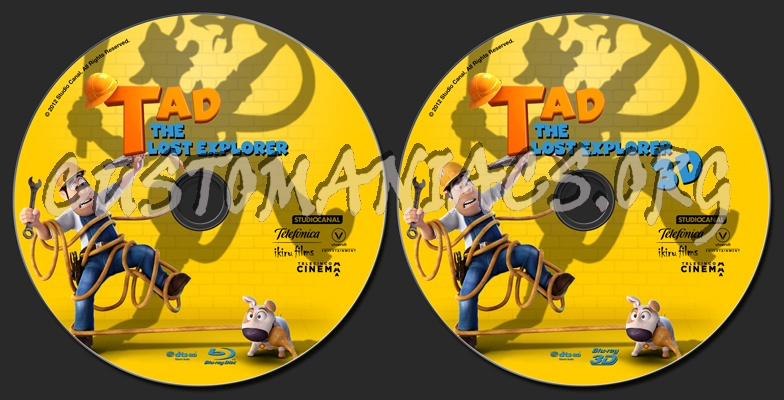 Tad The Lost Explorer blu-ray label