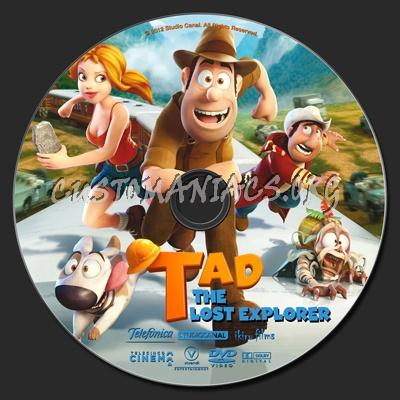 Tad The Lost Explorer dvd label