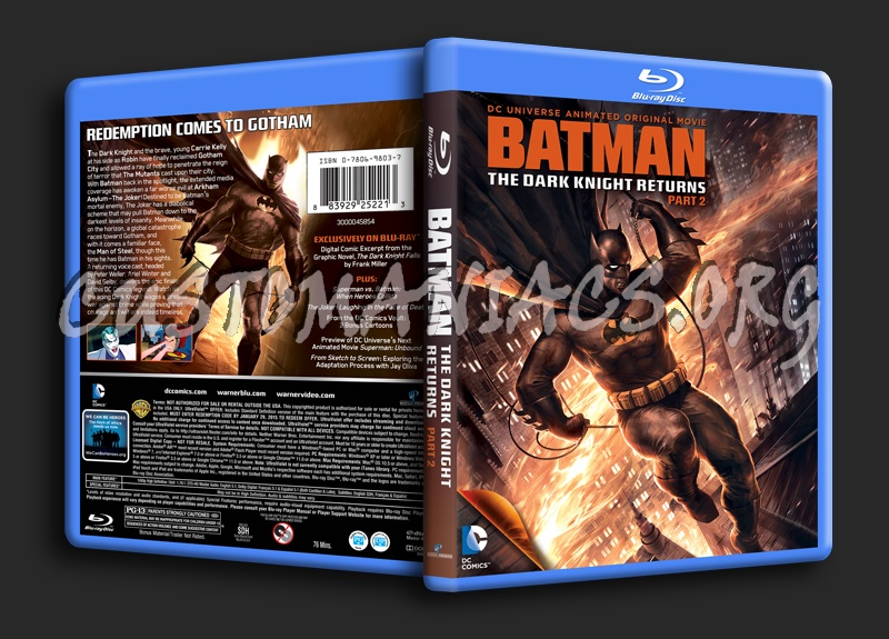 Batman The Dark Knight Returns Part 2 blu-ray cover