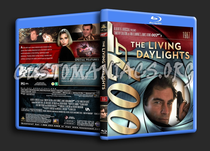 James Bond Collection - The Living Daylights (15) blu-ray cover