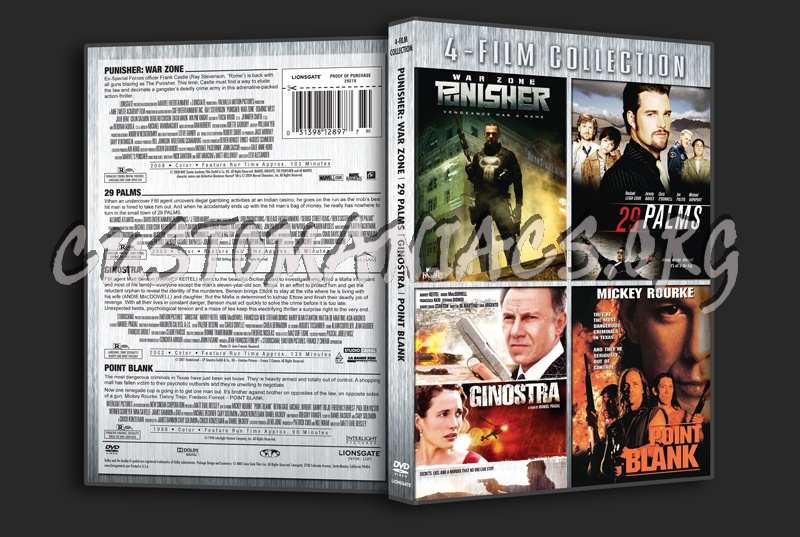 Punisher War zone / 29 Palms / Ginostra / Point Blank dvd cover