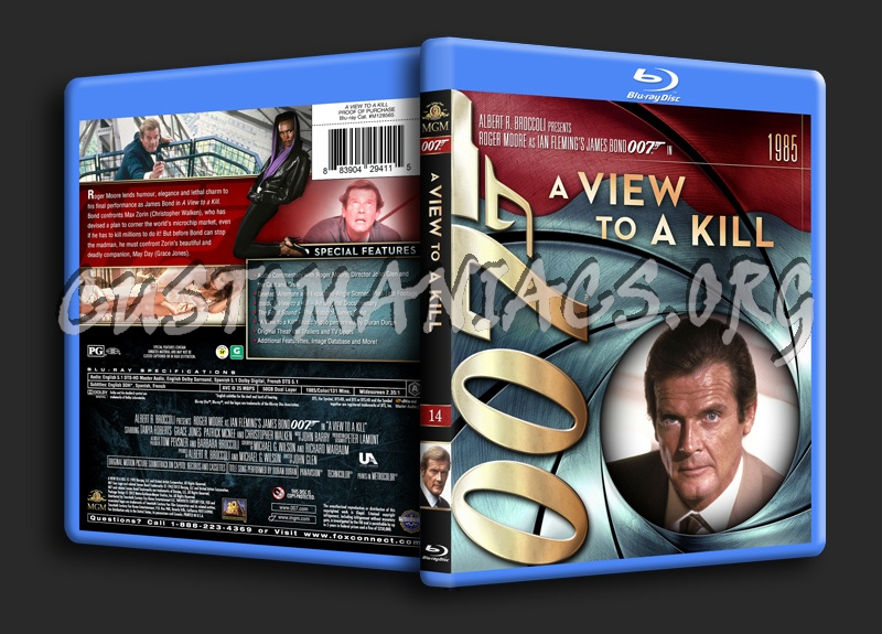 James Bond Collection - A View To A Kill (14) blu-ray cover