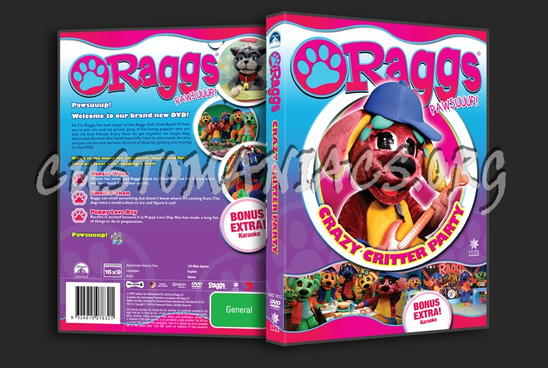 Raggs Crazy Critter Party dvd cover