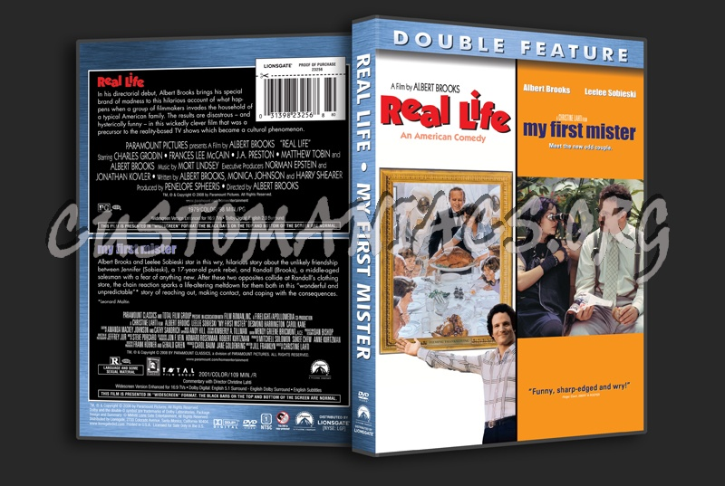 Real Life / My First Mister dvd cover
