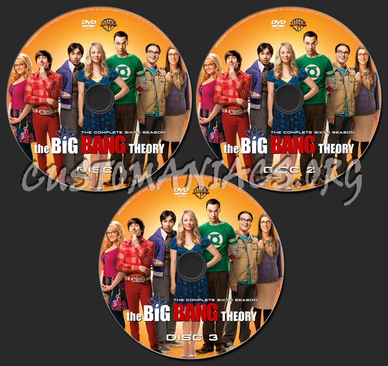 The Big Bang Theory Season 6 dvd label