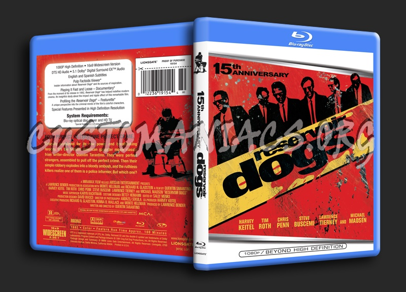 Reservoir Dogs blu-ray cover