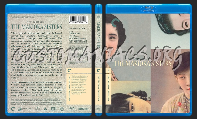 567 - Makioka Sisters blu-ray cover