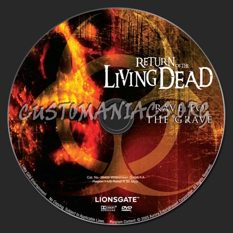 Return of the Living Dead dvd label