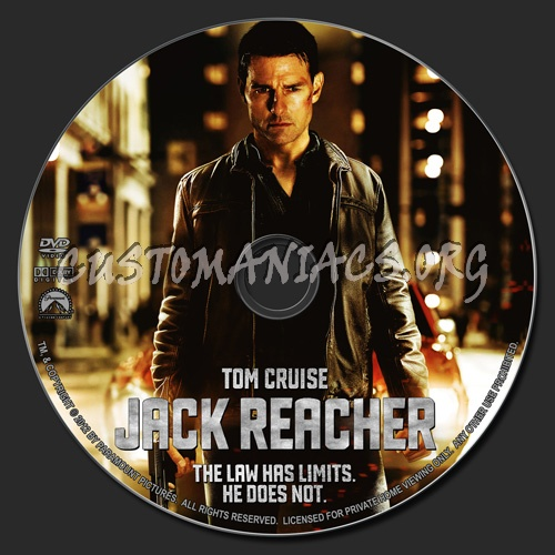 Jack Reacher dvd label