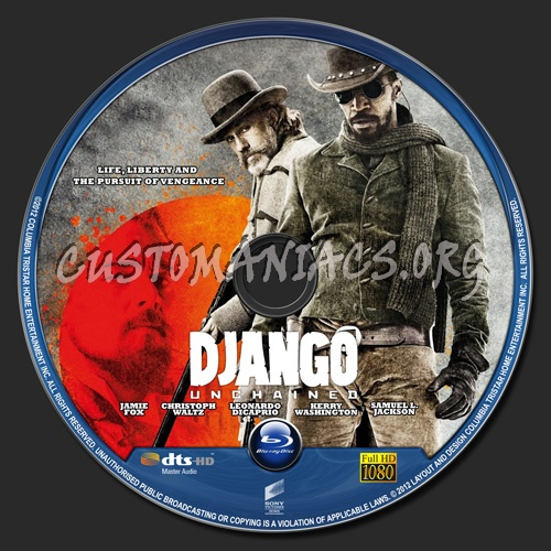 Django Unchained blu-ray label
