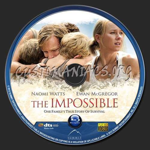 The Impossible blu-ray label