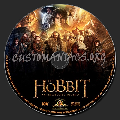 The Hobbit - An Unexpected Journey dvd label