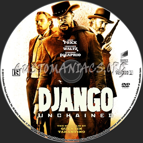 Django Unchained dvd label