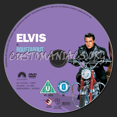 Roustabout dvd label