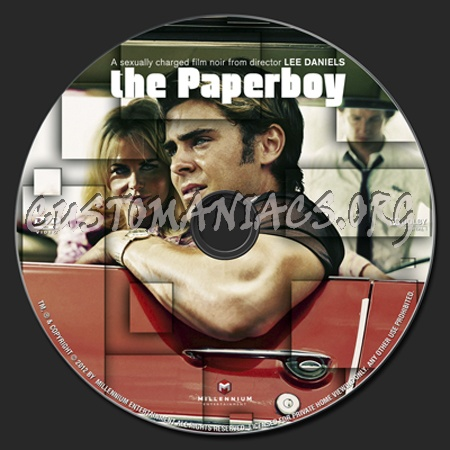 The Paperboy dvd label
