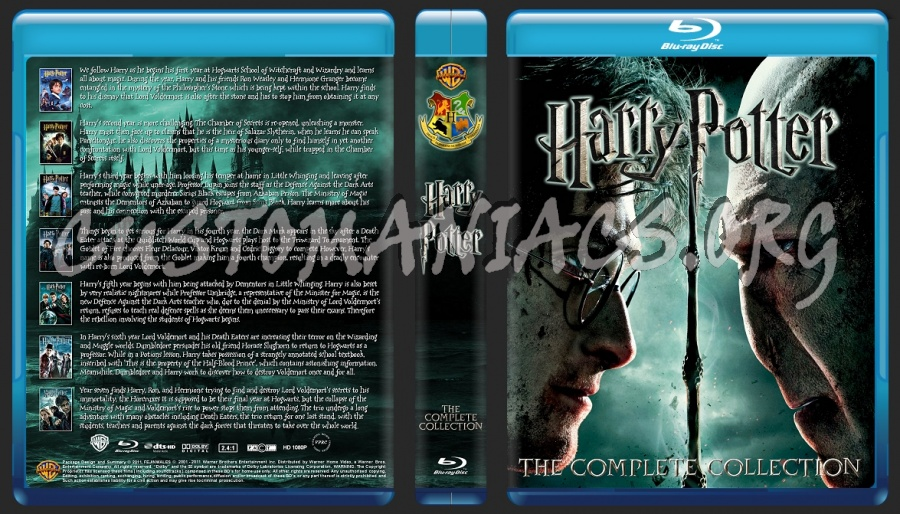 Harry Potter Complete Collection blu-ray cover