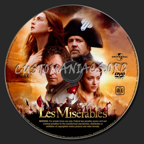 Les Misérables dvd label