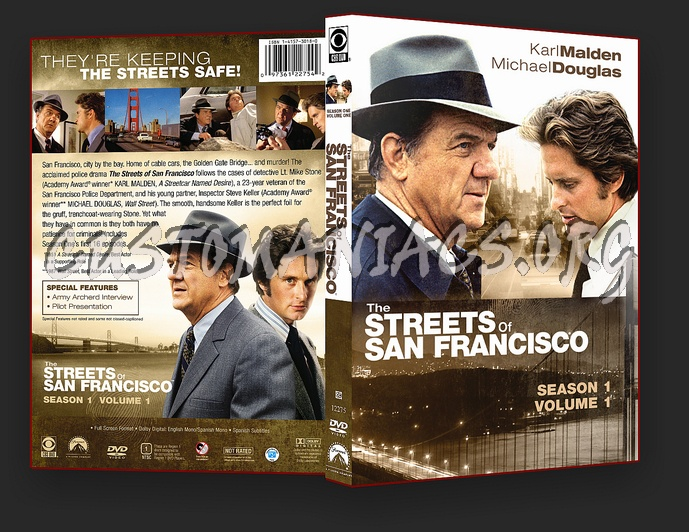 The Streets Of San Francisco Season 1 Volume 1 dvd cover