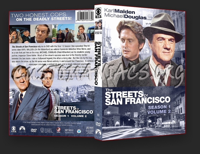 The Streets Of San Francisco Season 1 Volume 2 dvd cover