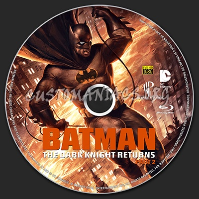 Batman The Dark Knight Returns Part 2 blu-ray label