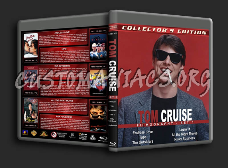 Tom Cruise Filmography - Set 1 blu-ray cover