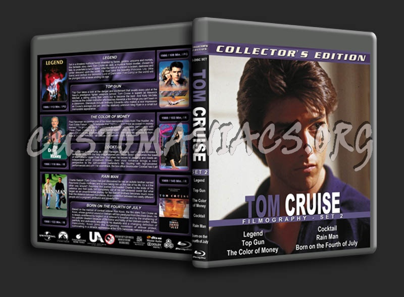 Tom Cruise Filmography - Set 2 blu-ray cover