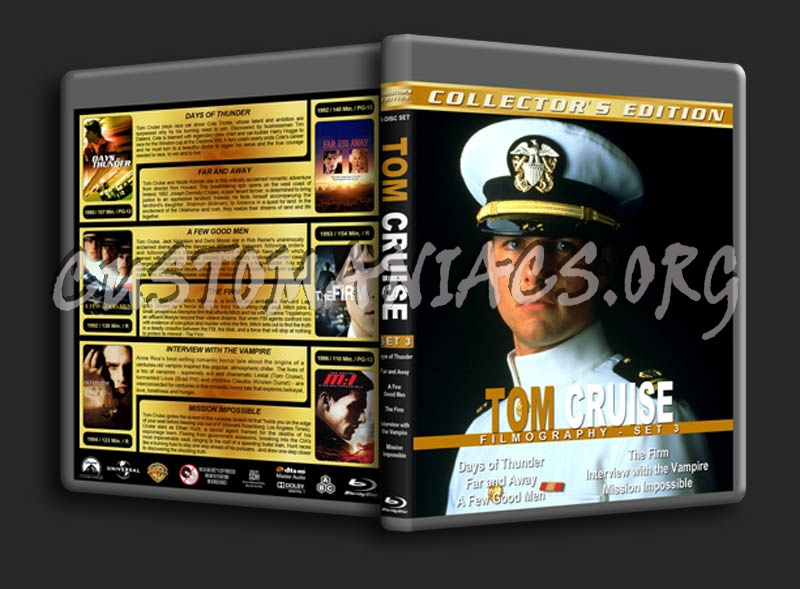 Tom Cruise Filmography - Set 3 blu-ray cover