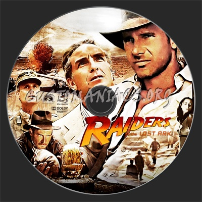 Raiders of the Lost Ark blu-ray label