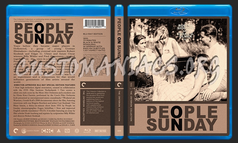 569 - People On Sunday blu-ray cover