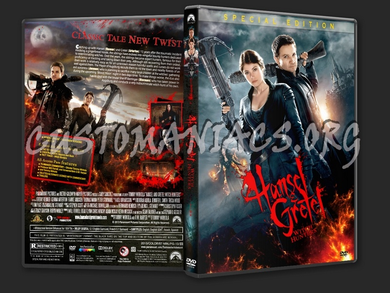 Hansel and Gretel Witch Hunters (2013) dvd cover