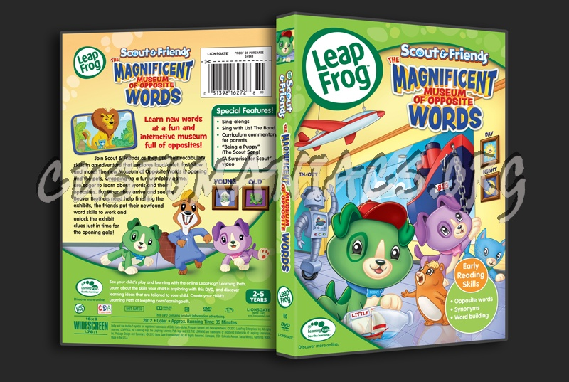 Leapfrog A Tad Of Christmas Cheer Dvd.Leap Frog The Magnificent Museum Of Opposite Words Dvd Cover