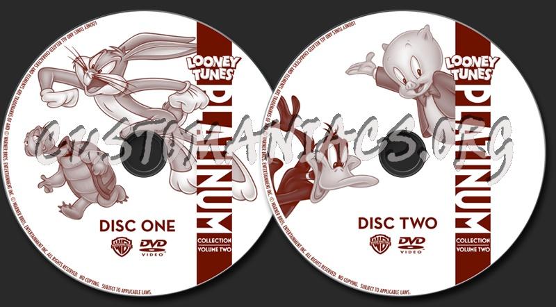 Looney Tunes Platinum Collection Volume 2 dvd label