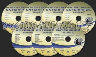 Star Trek Enterprise Seasons 1-4 dvd label