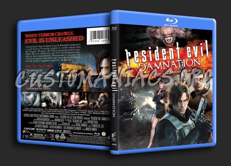 Resident Evil Damnation Blu Ray Cover Dvd Covers Labels By Customaniacs Id 185937 Free Download Highres Blu Ray Cover