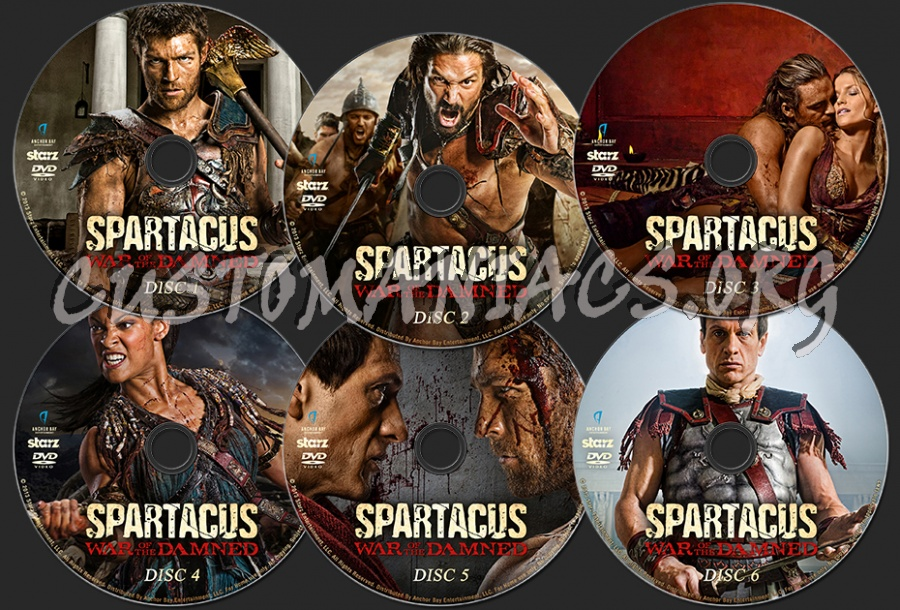 Spartacus War Of The Damned dvd label - DVD Covers & Labels by