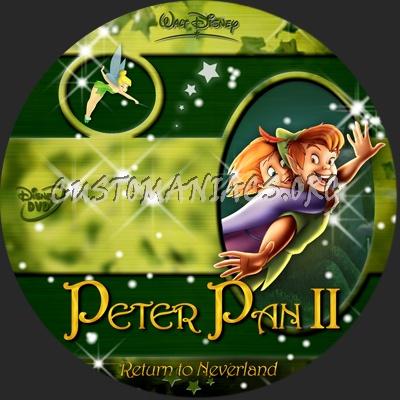 Peter Pan Return To Neverland dvd label
