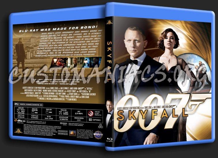 James Bond: Skyfall blu-ray cover