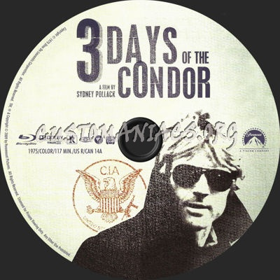 3 Days of the Condor blu-ray label