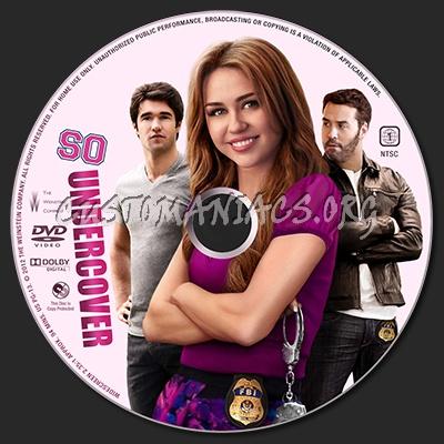 So Undercover dvd label