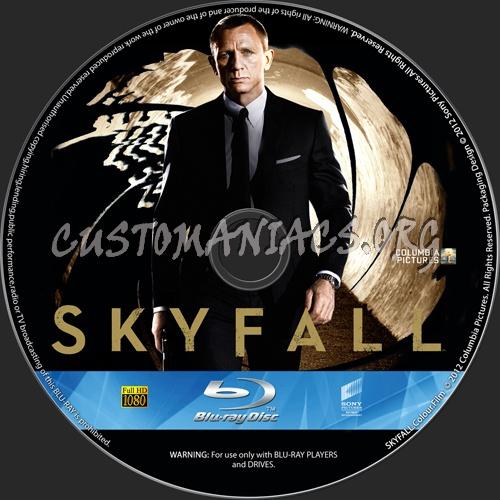 Skyfall blu-ray label