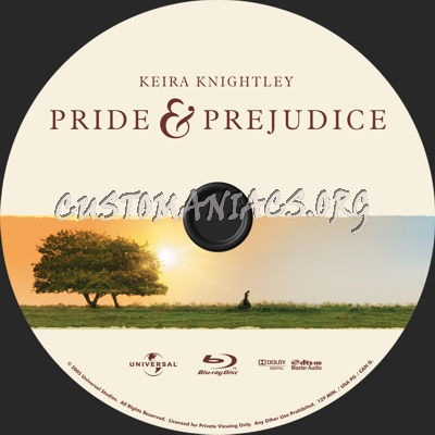 Pride & Prejudice blu-ray label