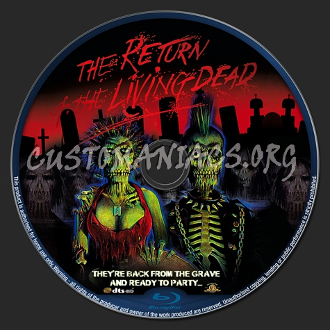 The Return of the Living Dead blu-ray label