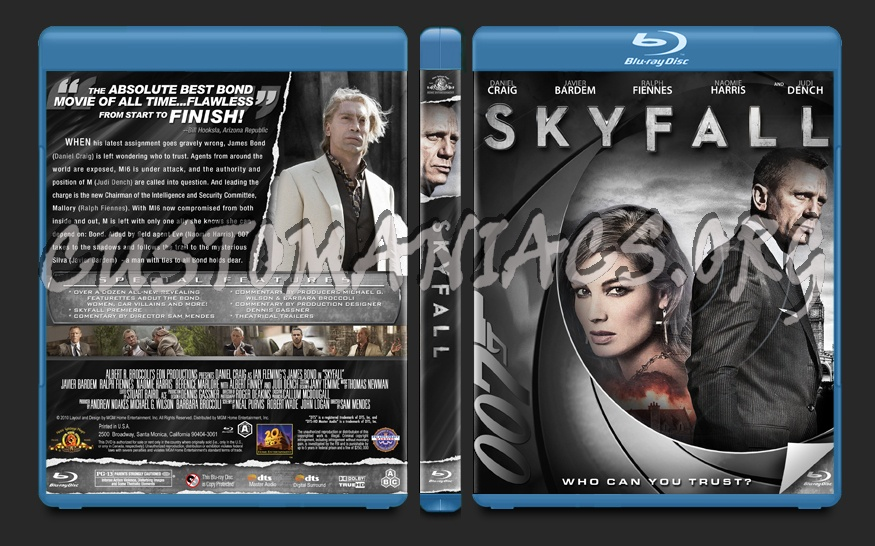 Skyfall blu-ray cover