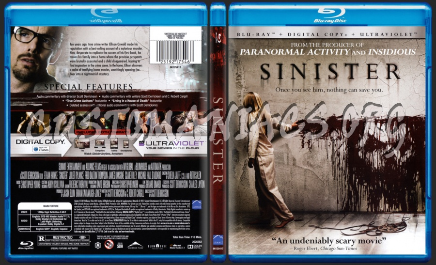 Sinister blu-ray cover