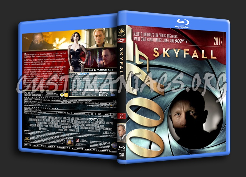 James Bond Collection - Skyfall (23) blu-ray cover