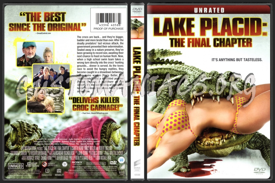 Lake Placid The Final Chapter dvd cover